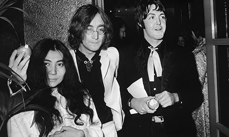 lennon, mcartney, and ono in 1968