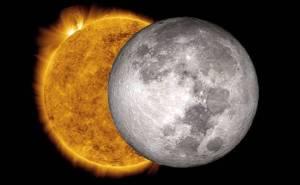 moon enters into the sun
